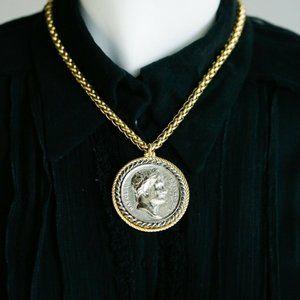 Vintage Kenneth Lane Large Napoleon Necklace